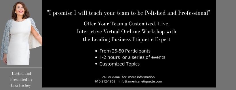 Business Etiquette Workshop Course