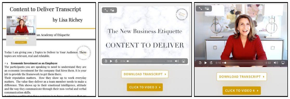 Etiquette Speaker Toolkit